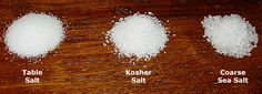 When To Use Different Types of Salt for Barbecue and Other Cooking