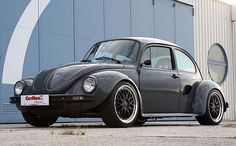 1973 Volkswagen Beetle chassis, Porsche Boxster running gear= Bugster. That's just cool.