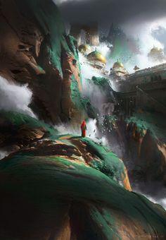 ArtStation - Green Mountain, Ruxing Gao