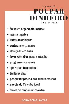 formas de poupar dinheiro no dia-a-dia Money Challenge, Making Life Easier, Blog Love, Moving Out, Anti Stress, Life Advice, Best Self, Finance Tips, Money Tips