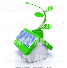 - Green Eco Friendly Home with a Solar Panel and Green Vine Solar Energy, Solar Power, Solar Panels For Home, Solar House, Clipart Design, Eco Friendly House, Royalty Free Images, Illustration Art, Clip Art