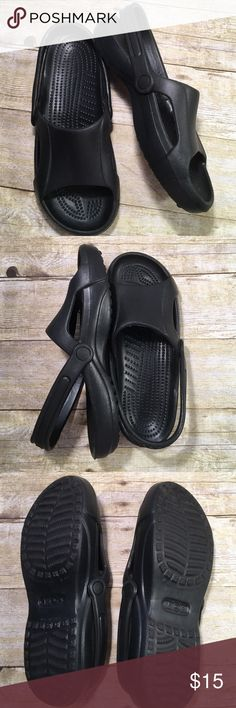 7eb166f130a7 Crocs Black Open Toe Black Like New Very padded. Non smoking home CROCS  Shoes