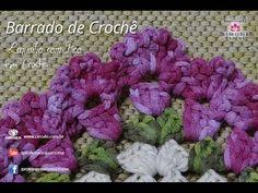 Barrado de crochê Lequinho com Picô - Professora Simone - YouTube