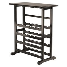 Vinny Wine Rack with Glass Hanger - Dark Espresso (On sale at Target for $71.99) has great reviews!