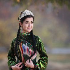 Beautiful Uyghur girl in Xinjiang, China. ~Click here for more stunning images~