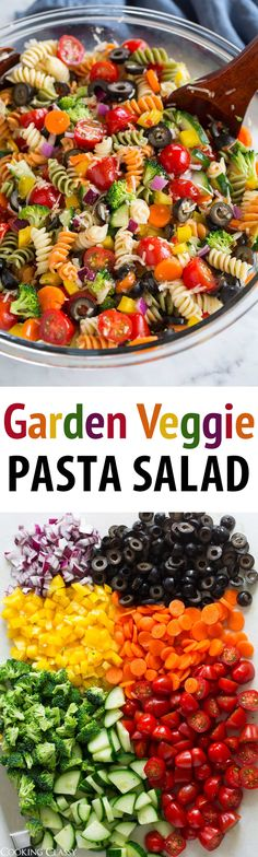 Garden Veggie Pasta Salad - just like what mom made! So easy and so good! Garden Veggie Pasta Salad - just like what mom made! So easy and so good! via Jaclyn {Cooking Classy} Vegetarian Recipes, Cooking Recipes, Vegetarian Pasta Salad, Hotdish Recipes, Healthy Pasta Salad, Coctails Recipes, Dishes Recipes, Good Healthy Recipes, Summer Salads