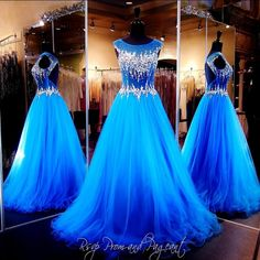 2016 New Bling Sexy Evening Dresses Wear Illusion Crystal Major Beading Royal Blue Long Hollow Open Back Formal Vestidos Prom Party Gowns Online with $139.27/Piece on Haiyan4419's Store | DHgate.com