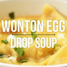 This Egg Drop Wonton Soup is a twist on three of my FAVE Asian soups: hot and sour, egg drop, and wonton soup! Ready in about 15 minutes. Healthy and can be vegetarian! showmetheyummy.com #eggdrop #soup #eggs #wontons #healthy