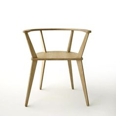 A radically simple construction: No screw, no glue. The strength of this chair comes from the precision of the joints. Convertible Furniture, Farrow Ball, Furniture Projects, Accent Colors, Chair Design, Dining Chairs, Dining Room, New Homes, Contemporary
