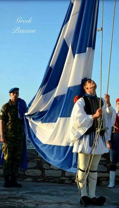 Greece Photography, Retro Photography, Greece Vacation, Greece Travel, Macedonia, Greece Today, Greek Soldier, Greece Pictures, Greek Flag