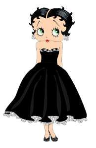 Betty Boop so adorable in Black.