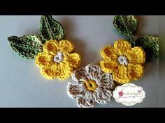 FLOR PARA APLICAÇÃO em Crochê - Muito Fácil por Neila Dalla Costa - YouTube