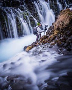 Bruarfoss Falls // Shainblum - Michale Shainblum getting the shot in Iceland on a recent trip.