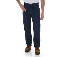 Rustler - Men's Regular Fit Straight-Leg Jeans, Size: 38 x 30, Blue