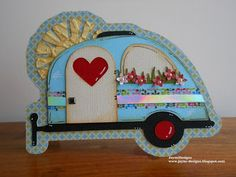 JayneDesigns: Caravan shaped card