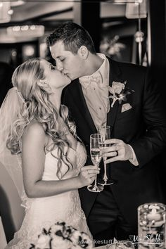 Bride and groom kiss during toast #Michiganwedding #Chicagowedding #MikeStaffProductions #wedding #reception #weddingphotography #weddingdj #weddingvideography #wedding #photos #wedding #pictures #ideas #planning #DJ #photography