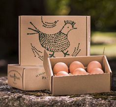 #eggs #packaging.  Pazo de Vilane