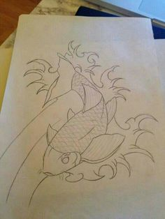 Koi carp tattoo that never got finished