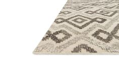 Akina Collection:  AK-04 IVORY / GREY Pure Wool Hand-Woven in India