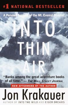 Into Thin Air: A Personal Account of the Mt. Everest Disa... http://amzn.to/2mY6kLo