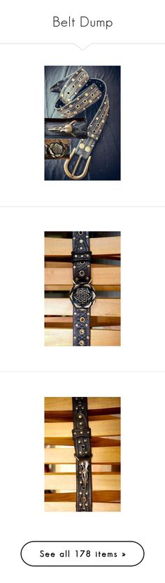 """""""Belt Dump"""" by thwgi ❤ liked on Polyvore featuring accessories, belts, jewelry, demonia, rock belts, off white belt, pictures, brown, chain belt and chanel"""