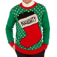 Ugly Christmas Sweater - Naughty Sweater available at uglyteams.com