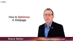Sample screenshot of one of our SEO Training videos. This one explains the basics of website optimisation.   http://rapidseoexpert.com/seo-training/