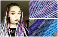 Synthetic dreads by Black Sunshine #synthdreads #extensions #syntheticdreads #pasteldreads