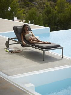 Conic sunbed by Sol seng Garden Furniture, Furniture Design, Outdoor Furniture, Outdoor Decor, Sun Lounger, Garden Design, Collection, Home Decor, Chair