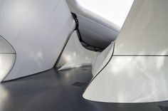 Interior detail of Chanel Mobile Art Pavilion by Zaha Hadid Architects