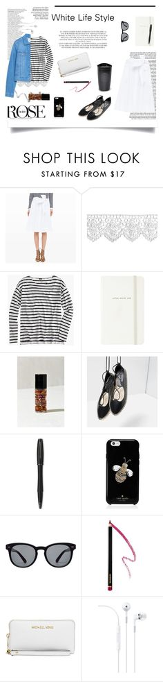 All in White by d-hecate on Polyvore featuring J.Crew, Club Monaco, Zara, Michael Kors, Kate Spade, Dolce&Gabbana, Yves Saint Laurent, Urban Outfitters, Parker and Rachel