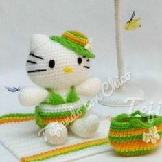 Patrón Hello Kitty y complementos