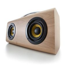 Not a DIY Solution, but for $49.00 this doesn't look like a bad solution ...  Bluetooth Speaker - Wood | Kmart