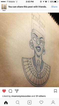 ✊🏾✊🏾✊🏾 African Queen Tattoo, African Tattoo, Matching Tats, Future Tattoos, New Tattoos, Cool Tattoos, King Tattoos, Incredible Tattoos, Permanent Tattoo