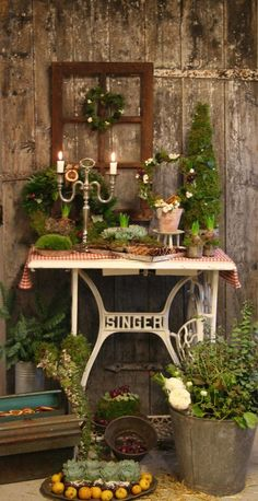 Wonderful Screen rustic Flower Garden Popular A simple guide for flower gardening for beginners. Learn the way to create a beautiful flower garden Diy Garden, Garden Shop, Garden Art, Balcony Garden, Garden Planters, Garden Ideas, Home And Garden, Sewing Machine Tables, Old Sewing Machines