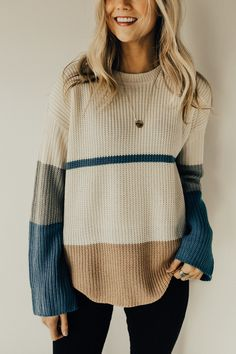 Ready For It Knit Color-block Sweater | ROOLEE