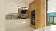 3 sprzety agd w jednym slupku - Szukaj w Google Smart Kitchen, Nobilia Kitchen, Kitchen Dinning, Wooden Kitchen, Kitchen Interior, Kitchen Cabinets, Small U Shaped Kitchens, Home Kitchens, House Design