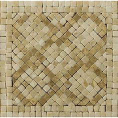 4-in x 4-in Savona Listello Corner Natural Marble Wall and Floor Tile