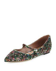 TABITHA SIMMONS Hermione Velvet Mary Jane Flat. #tabithasimmons #shoes #flats