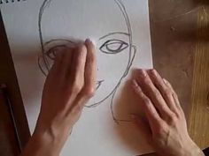 ▶ Beginner Face Draw & Paint from Dina Wakley Tutorial - YouTube
