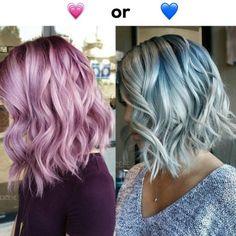 Silver-Blue-Hair Popular Short Blue Hair Ideas in 2019 Haircuts For Medium Length Hair, Chin Length Hair, Easy Hairstyles For Medium Hair, Medium Bob Hairstyles, Blue Hairstyles, Short Haircuts, Middle Hairstyles, Fast Hairstyles, Layered Hairstyles