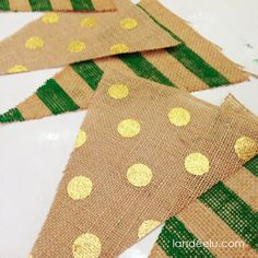#DIY green and gold burlap banner. For home, office, or a #Baylor party!
