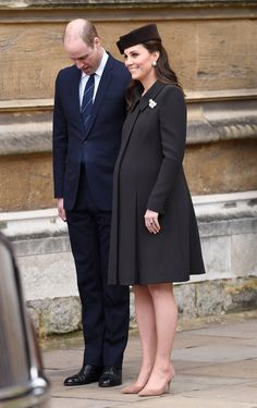 Another photo of the Duke and Duchess of Cambridge Departing the Easter Service - TownandCountrymag.com