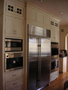 White Kitchen Tall Cabinets