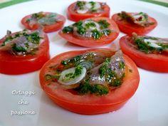 Pomodori e alici, antipasto