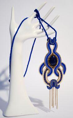 #Soutache #Collana #Necklaces #Pendente #Pendant #Blu #Lapislazzulo #Lapis