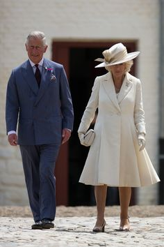 Noblesse et Royautés: Inauguration of Hougoumont Farm, June 17, 2015-Prince of Wales and Duchess of Cornwall