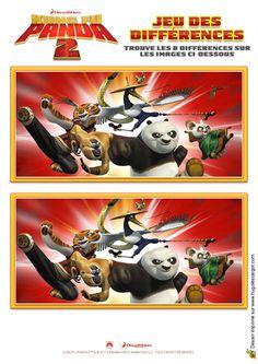 Un jeu des sept erreurs Kung-Fu Panda 2.
