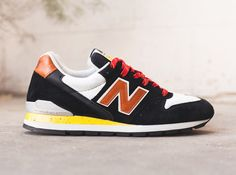 New Balance 996 – Black – Brown – Yellow Speckle