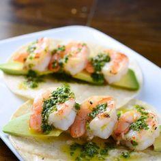 Shrimp Tacos with Basil Chimichurri Recipe Main Dishes with shrimp ...